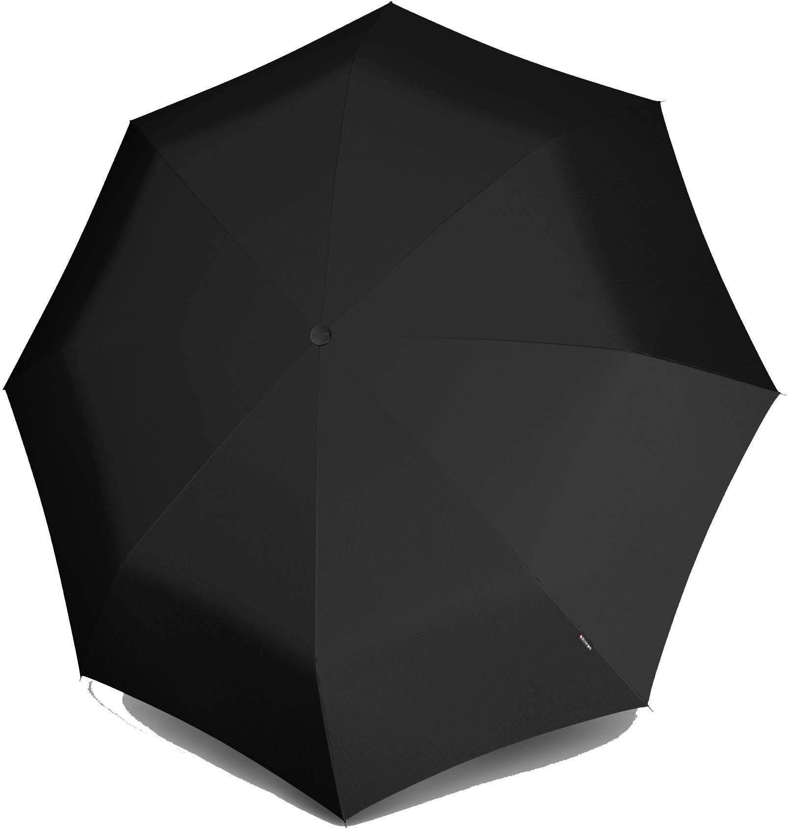 Knirps® Regenschirm - Taschenschirm »T.200 Medium Duomatic black« | Accessoires > Regenschirme > Taschenschirme | Schwarz | KNIRPS