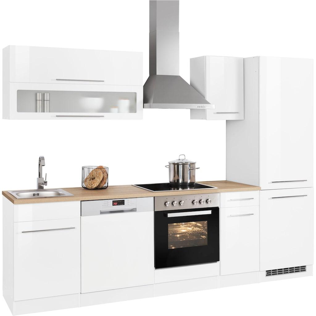 HELD MÖBEL Küchenzeile »Eton«, ohne E-Geräte, Breite 270 cm