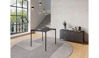 Homexperts Esstisch »Akira«, Breite 80 oder 160 cm, in Eiche natur oder schwarz lackiert kaufen