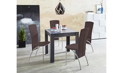 Essgruppe, (Set, 5 tlg.), Tischbreite 80 cm in schieferfarben kaufen