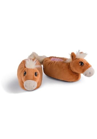 Nici Plüsch Hausschuhe »Haflinger Leotie«, in Pferde-Form kaufen