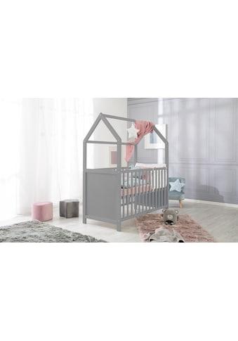 roba® Babybett »Hausbett 60x120, taupe«, FSC®-Holz aus gewissenhaft bewirtschafteten... kaufen