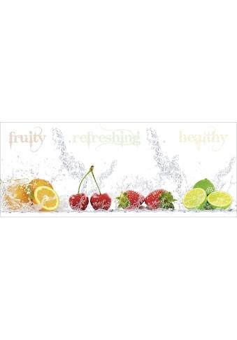 Home affaire Glasbild »Porzani & Kesu: Fruchtig  -  erfrischend  -  gesund« kaufen