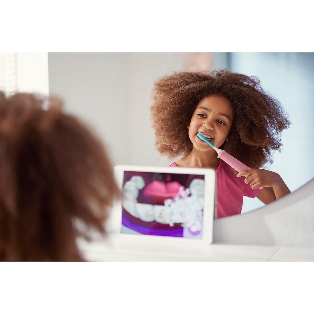 Philips Sonicare Elektrische Kinderzahnbürste »HX6352/42«, 2 St. Aufsteckbürsten, mit interaktiver Zahnputz-App