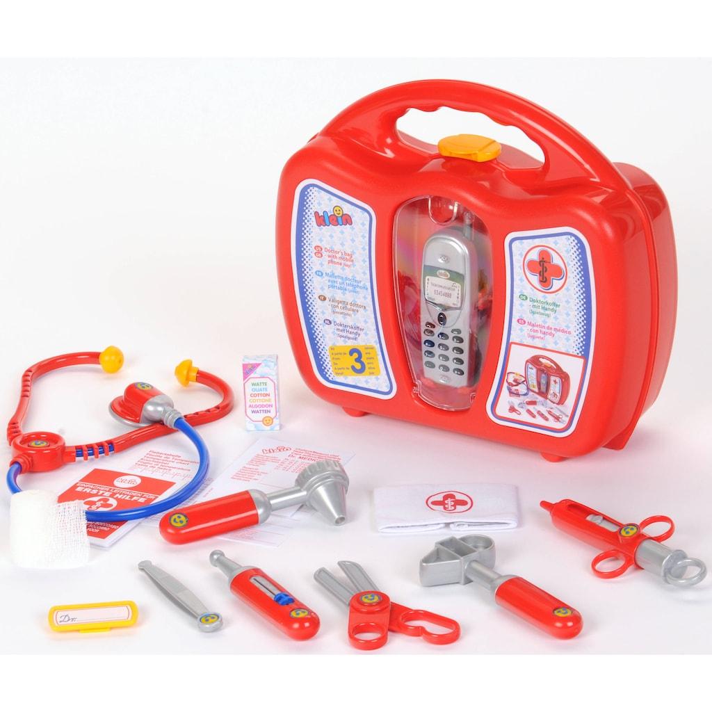 Klein Spielzeug-Arztkoffer, mit Handy, Made in Germany
