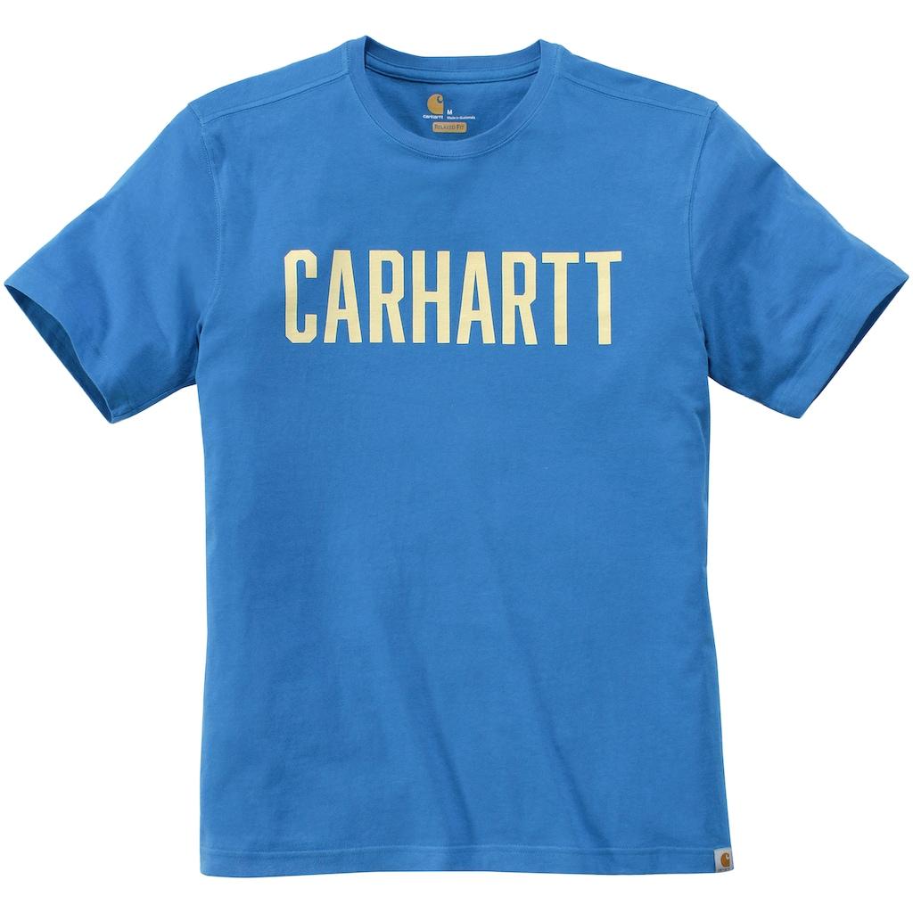 CARHARTT T-Shirt »SOUTHERN BLOCK LOGO T-SHIRT S/S«, Kurzarm, Logo auf der Brust