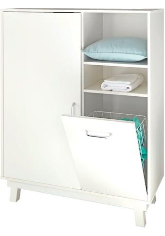 roba® Highboard »Nordic, weiß«, mit Wäschekorb; Made in Europe kaufen