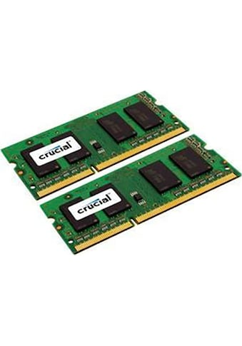Crucial Laptop-Arbeitsspeicher »8GB Kit (2 x 4GB) DDR3-1066 SODIMM« kaufen