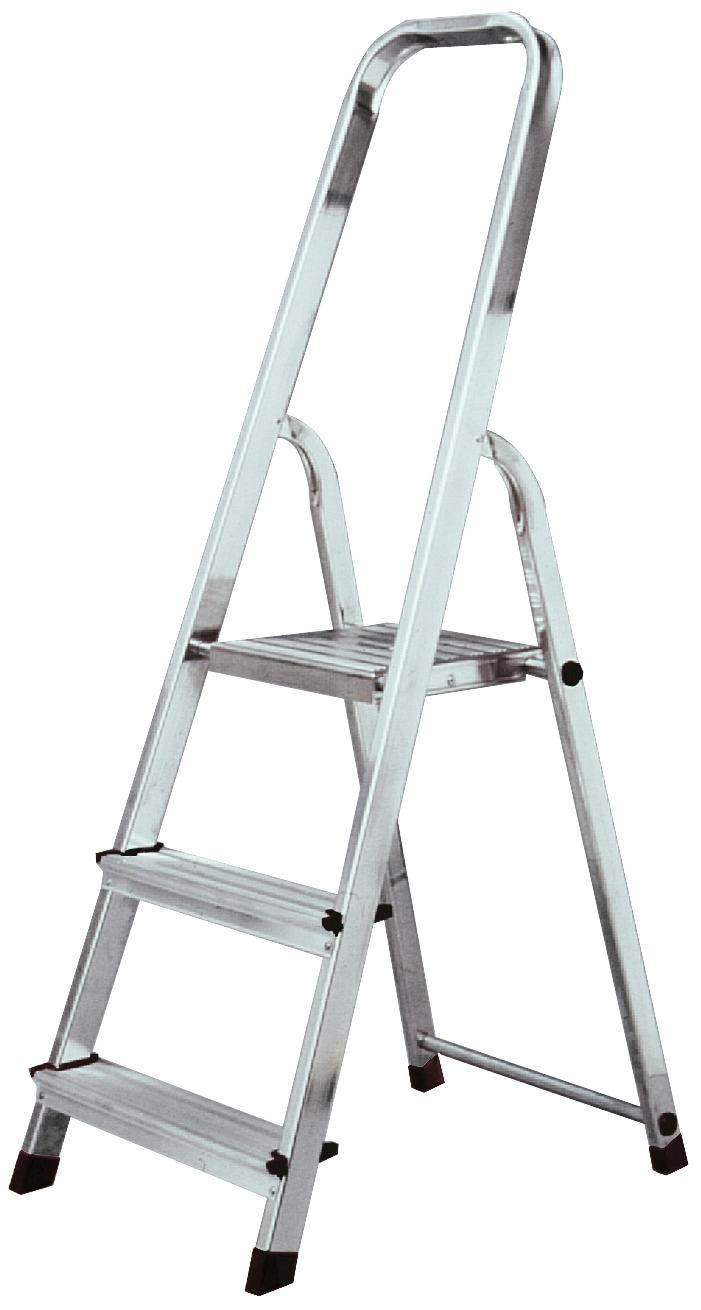 KRAUSE Sicherheitstrittleiter »CORDA«, einseitig begehbar | Baumarkt > Leitern und Treppen > Trittleiter | Silberfarben | Aluminium | KRAUSE