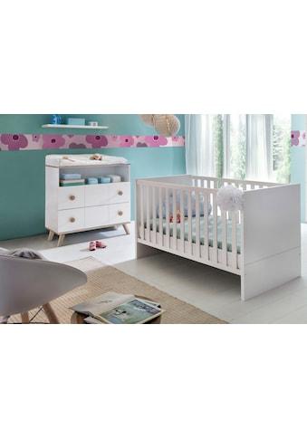 Babymöbel-Set »Cannes«, (Spar-Set, 2 tlg.), Bett + Wickelkommode kaufen