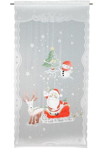 WILLKOMMEN ZUHAUSE by ALBANI GROUP Vorhang »Rentier«, HxB: 225x100, Jacquard-Fensterbild kaufen