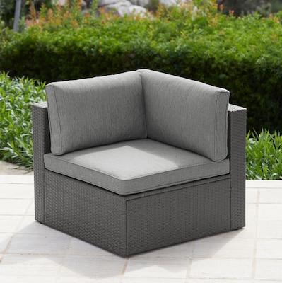Loungesessel mit Seitenteil inklusive Rücken- und Sitzpolster in Grau