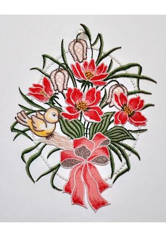 """Stickereien Plauen Fensterbild »Blumenschleife Fensterbild«, Fensterbild """"Blumenschleife"""" kaufen"""