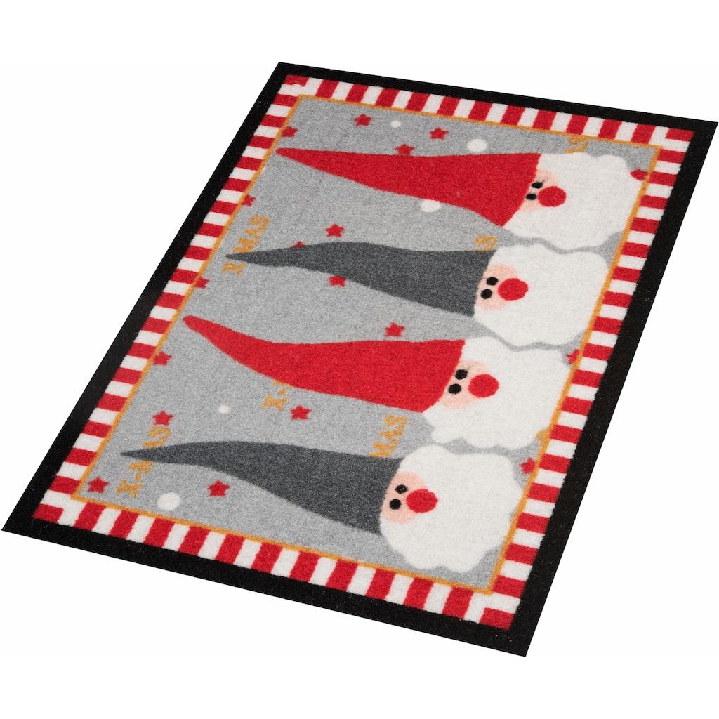 HANSE Home Fußmatte »Weihnachtswichtel«, rechteckig, 7 mm Höhe, Schmutzfangmatte, In- und Outdoor geeignet