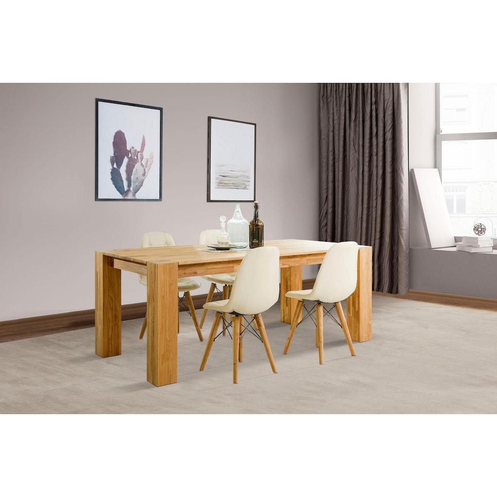 Home affaire Essgruppe »Juna«, (Set, 5 St.), bestehend aus 4 Stühlen und einem Esstisch, Esstischbreite 180 cm