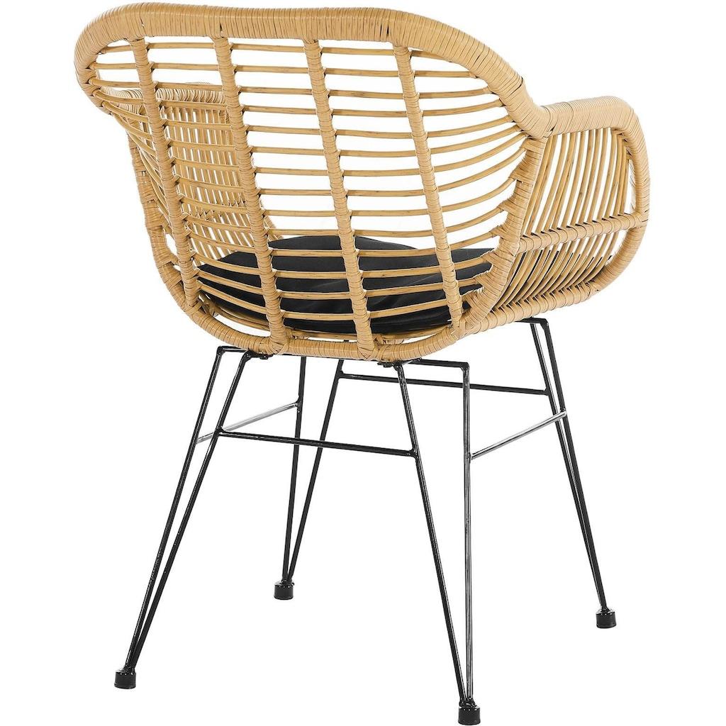 SalesFever Stuhl, aus wetterfestem Kunststoffgeflecht in Rattanoptik