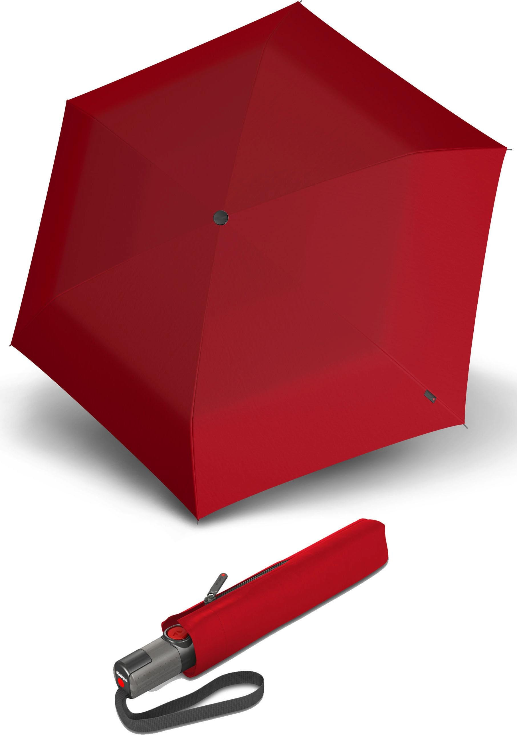 Knirps® Regenschirm - Taschenschirm, »TS.200 Slim Medium Duomatic red«   Accessoires > Regenschirme > Taschenschirme   Rot   Wo   KNIRPS