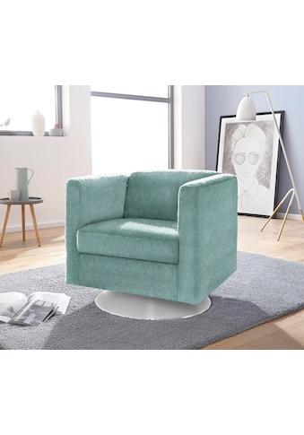 INOSIGN Sessel »Bob«, drehbar mit Tellerfuß kaufen