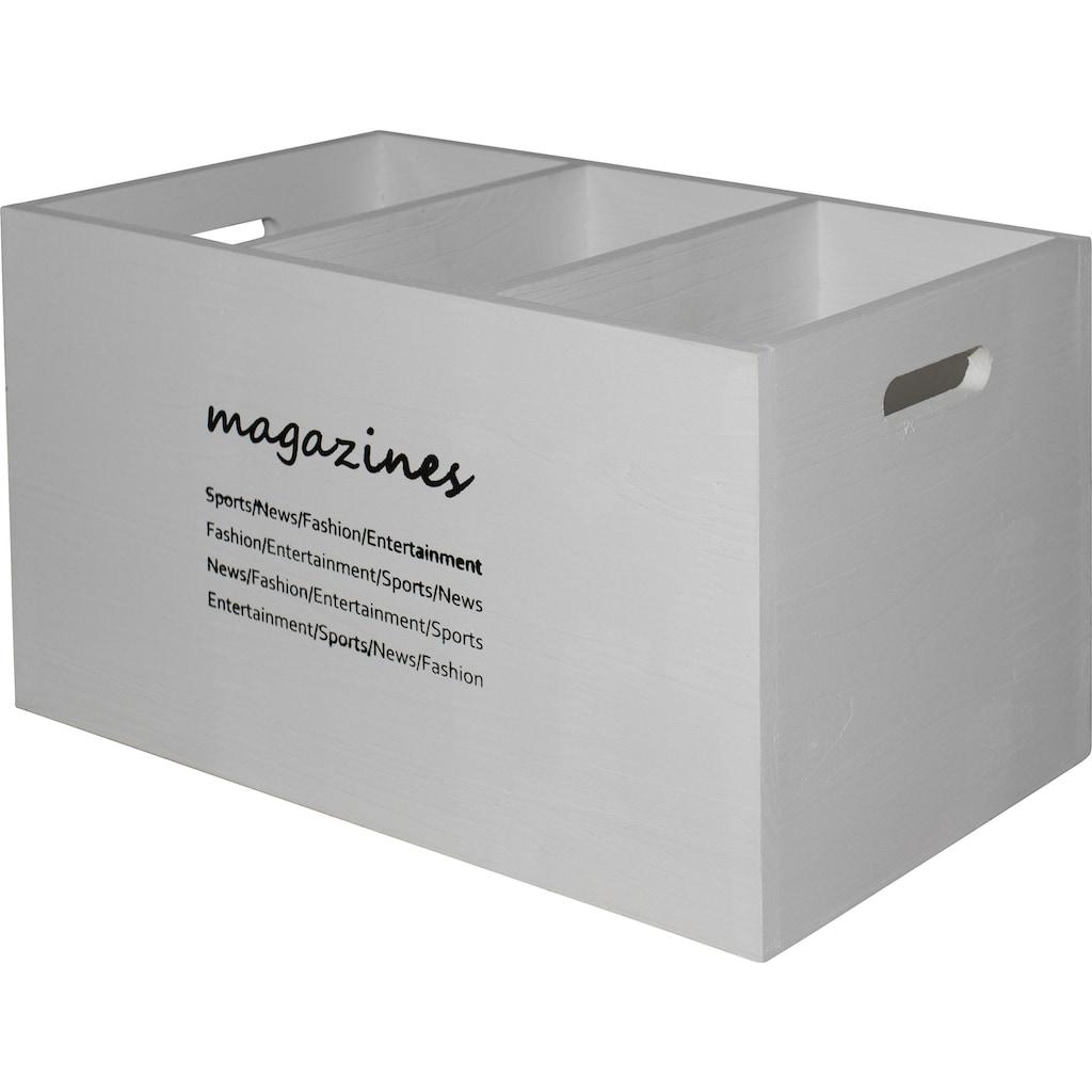 Myflair Möbel & Accessoires Aufbewahrungsbox »Magari«, Magazinhalter