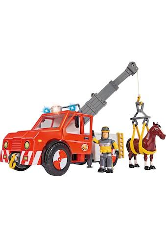 SIMBA Spielzeug-Kran »Feuerwehrmann Sam, Phoenix mit Figur, Pferd und Blaulicht« kaufen
