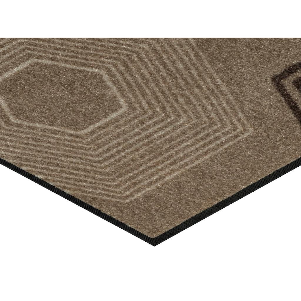 wash+dry by Kleen-Tex Fußmatte »Callisto«, rechteckig, 7 mm Höhe, Schmutzfangmatte, In- und Outdoor geeignet, waschbar