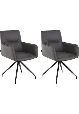 Places of Style Drehstuhl »Loxley«, 2er Set, in Kunstleder- oder Luxus-Microfaser Bezug auswählbar, vier Farbvarianten, Sitzhöhe 46 cm kaufen