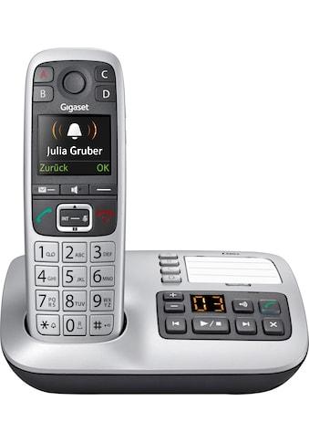 Gigaset Schnurloses DECT-Telefon »E560 A«, (Mobilteile: 1 ), mit Anrufbeantworter, Weckfunktion, Freisprechen kaufen