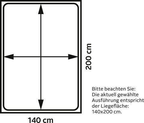 Premium Collection By Home Affaire Wildeiche Massivholz Bett Minimus Vegan Und Metallfrei Allergiker Geeignet