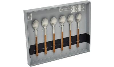 PINTINOX Kaffeelöffel »Sushi Moka Satin«, (Set, 6 tlg.), Edelstahl 18/0 mit... kaufen