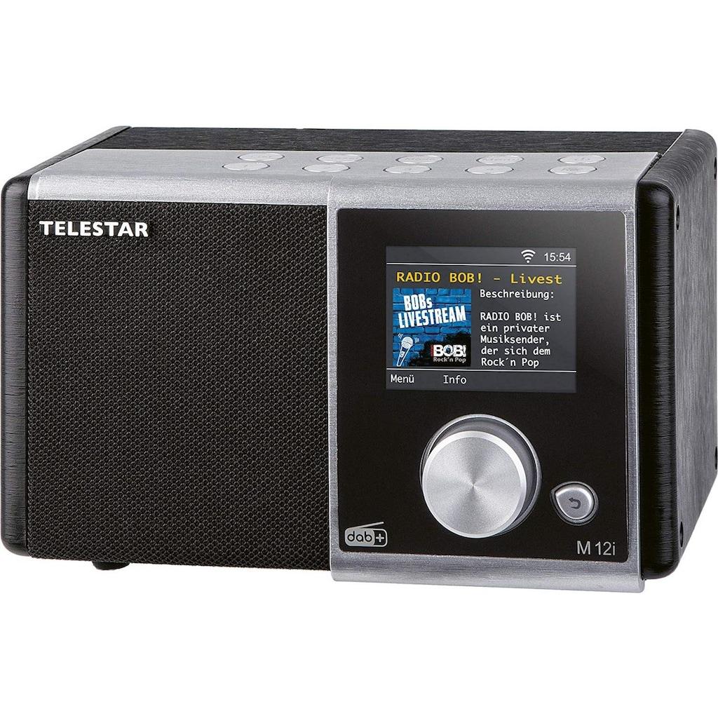 TELESTAR Internet-Radio »M 12i«, (Digitalradio (DAB+)-FM-Tuner-Internetradio), USB Musikplayer, MP3, WMA, AAC, WiFi