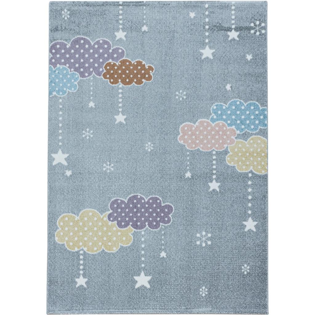 Ayyildiz Kinderteppich »LUCKY 3611«, rechteckig, 11 mm Höhe, Kinder Wolken Sterne Motivteppich