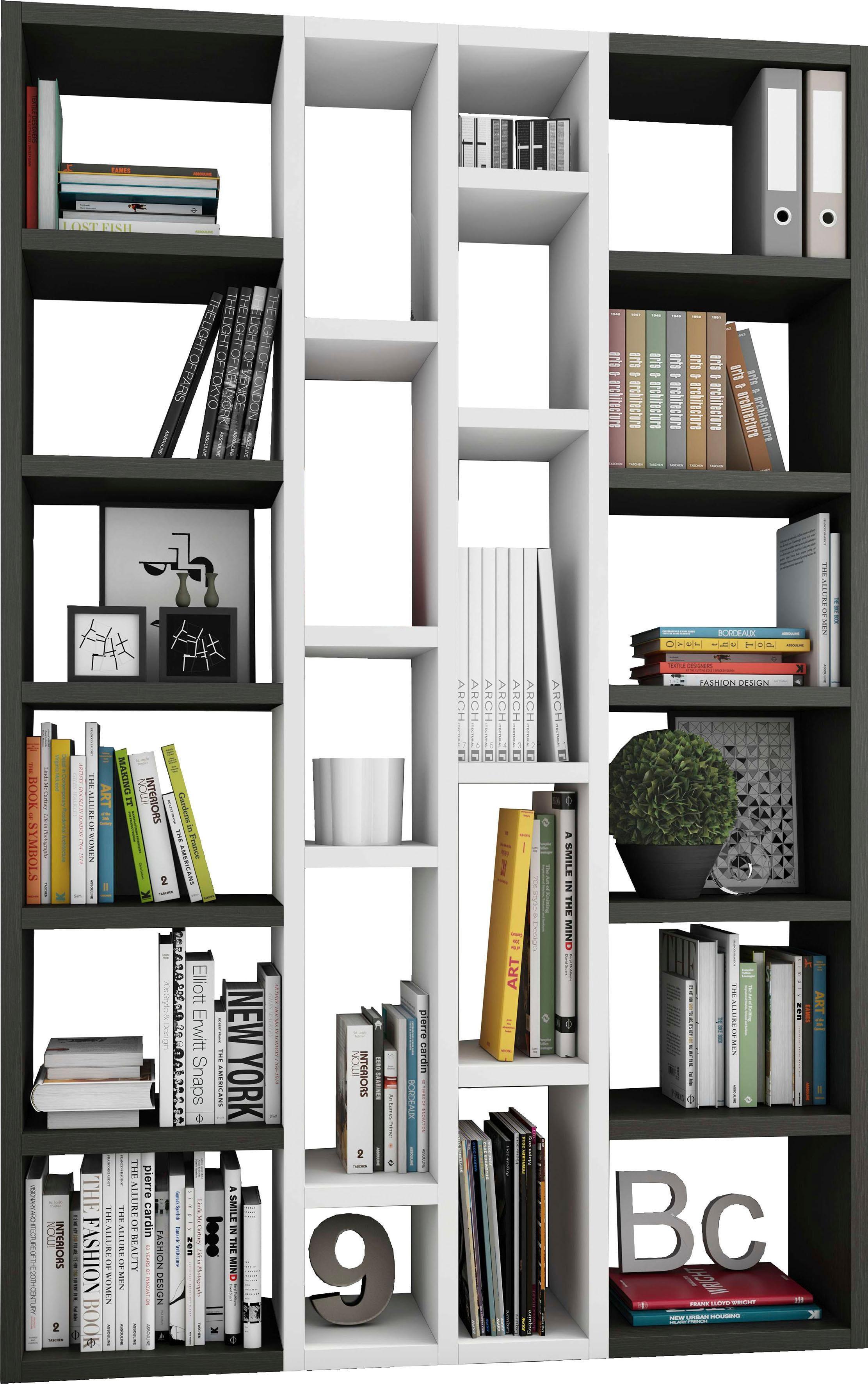 Regalwand »TOR391-2«, Breite 145 cm | Wohnzimmer > Regale > Raumteiler | Braun | Melamin | QUELLE