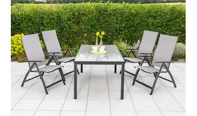 MERXX Gartenmöbelset »Vicenza«, (5 tlg.), 4 Klappsessel mit Tisch kaufen