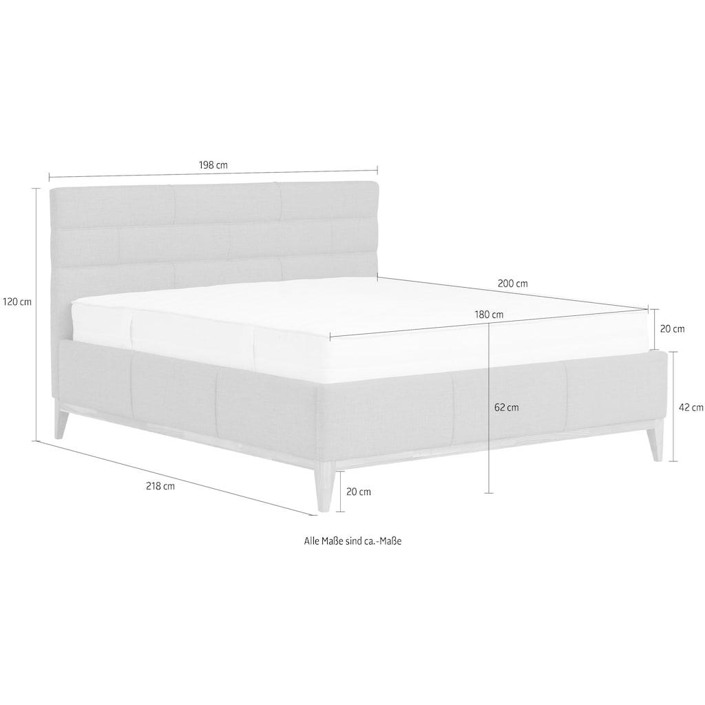 Leonique Polsterbett »Balaine«, mit Lattenrost, Bettkasten, auch mit 7-Zonen-Taschenfederkernmatratze