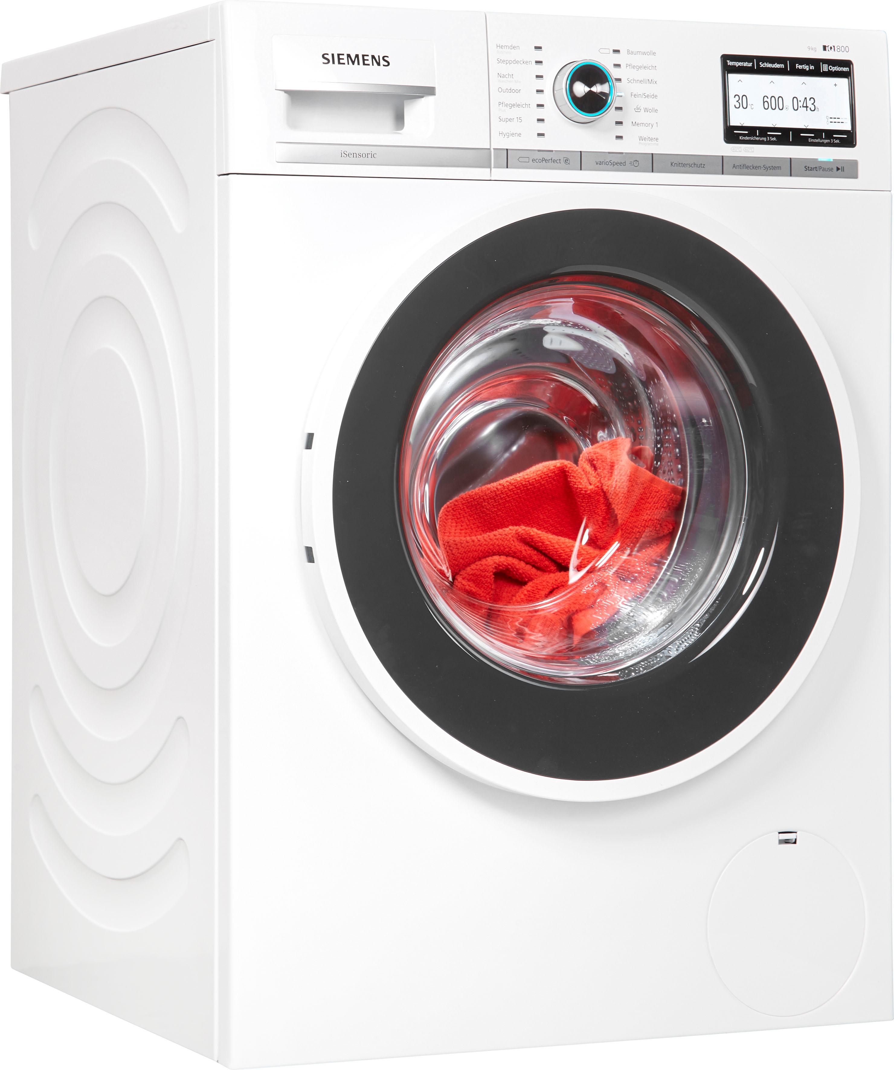SIEMENS Waschmaschine iQ800 WM14Y7TT9 | Bad > Waschmaschinen und Trockner > Frontlader | Siemens