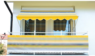 Angerer Freizeitmöbel Klemmmarkise, gelb-grau, Ausfall: 150 cm, versch. Breiten kaufen