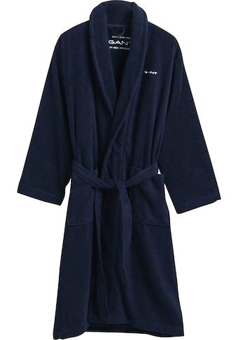 Gant Unisex-Bademantel »Gant«, (1 St.), in zeitlosen Unifarben kaufen