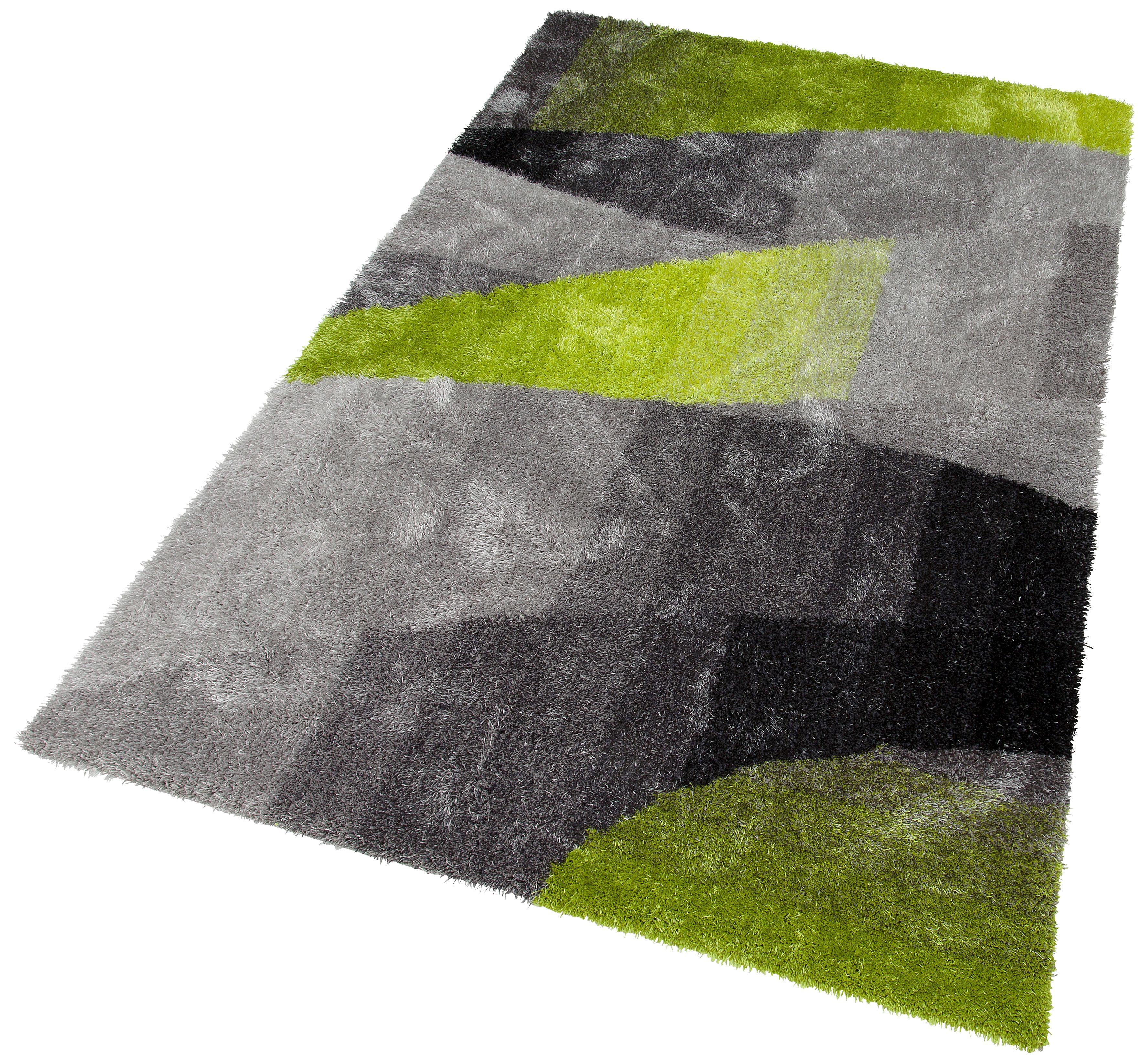 Hochflor-Teppich, »Adela«, my home Selection, rechteckig, Höhe 30 mm, handgetuftet