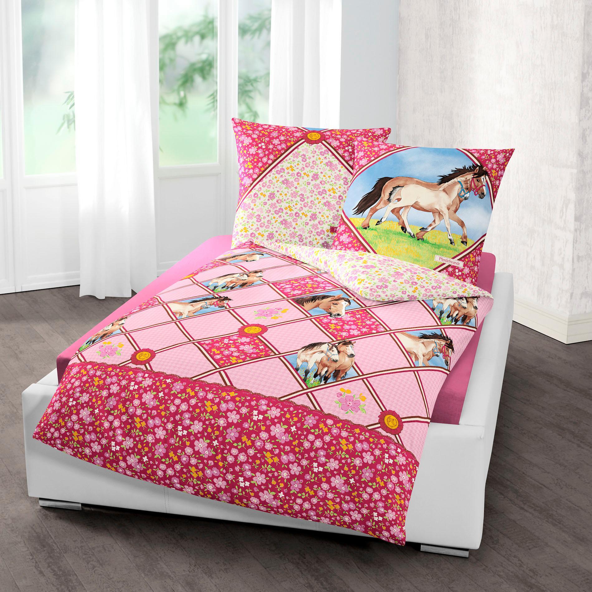 Kinderbettwäsche »Potro«, Pferdefreunde | Kinderzimmer > Textilien für Kinder > Kinderbettwäsche | Bunt | Baumwolle | PFERDEFREUNDE