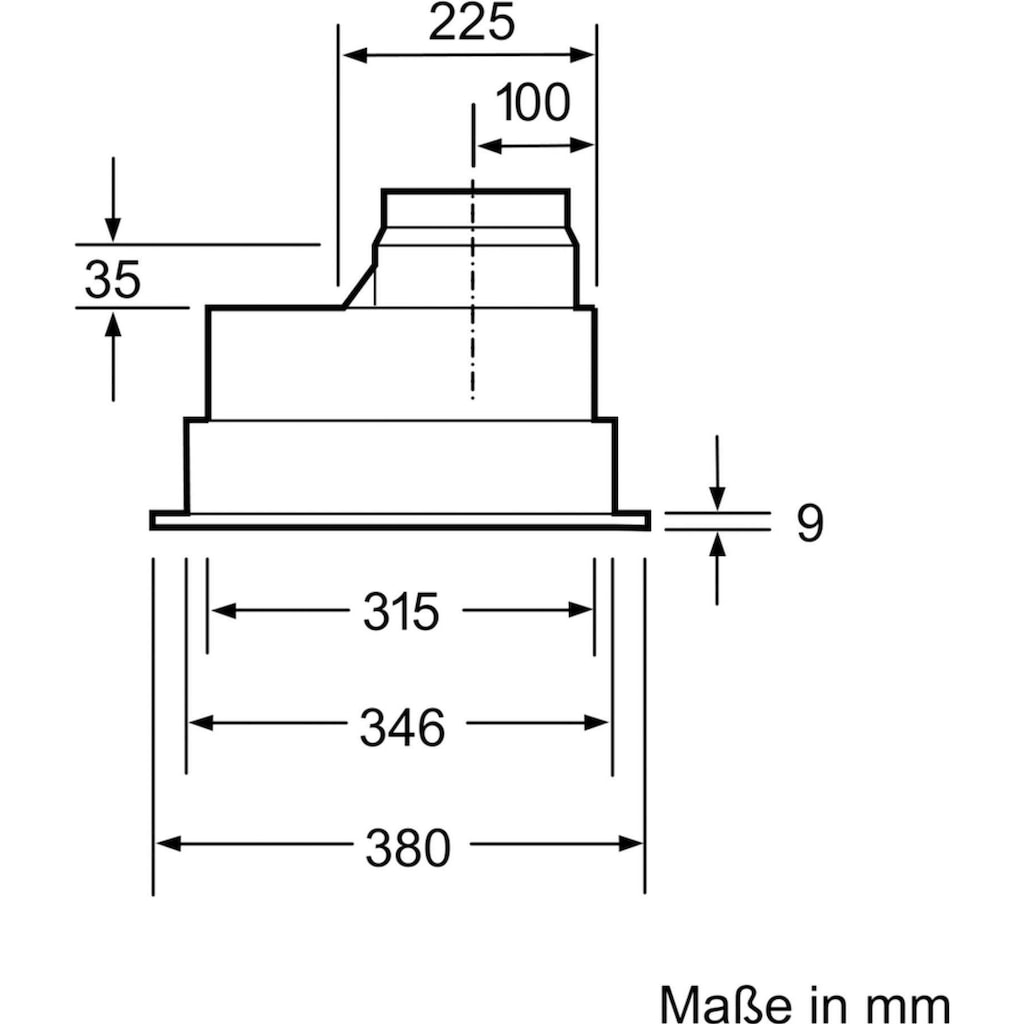 BOSCH Deckenhaube »DHL555BL«