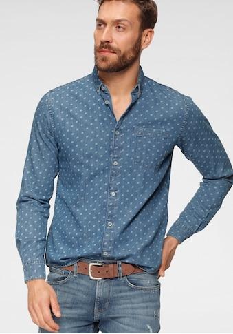 TOM TAILOR Langarmhemd, mit Alloverprint kaufen