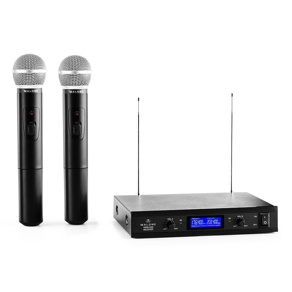 Malone 2-Kanal VHF-Funkmikrofon-Set 1x Empfänger 2 Handmikrofone