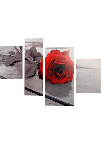 Home affaire Bild »RUMIN / Rose on the floor«, (4-teilig) kaufen