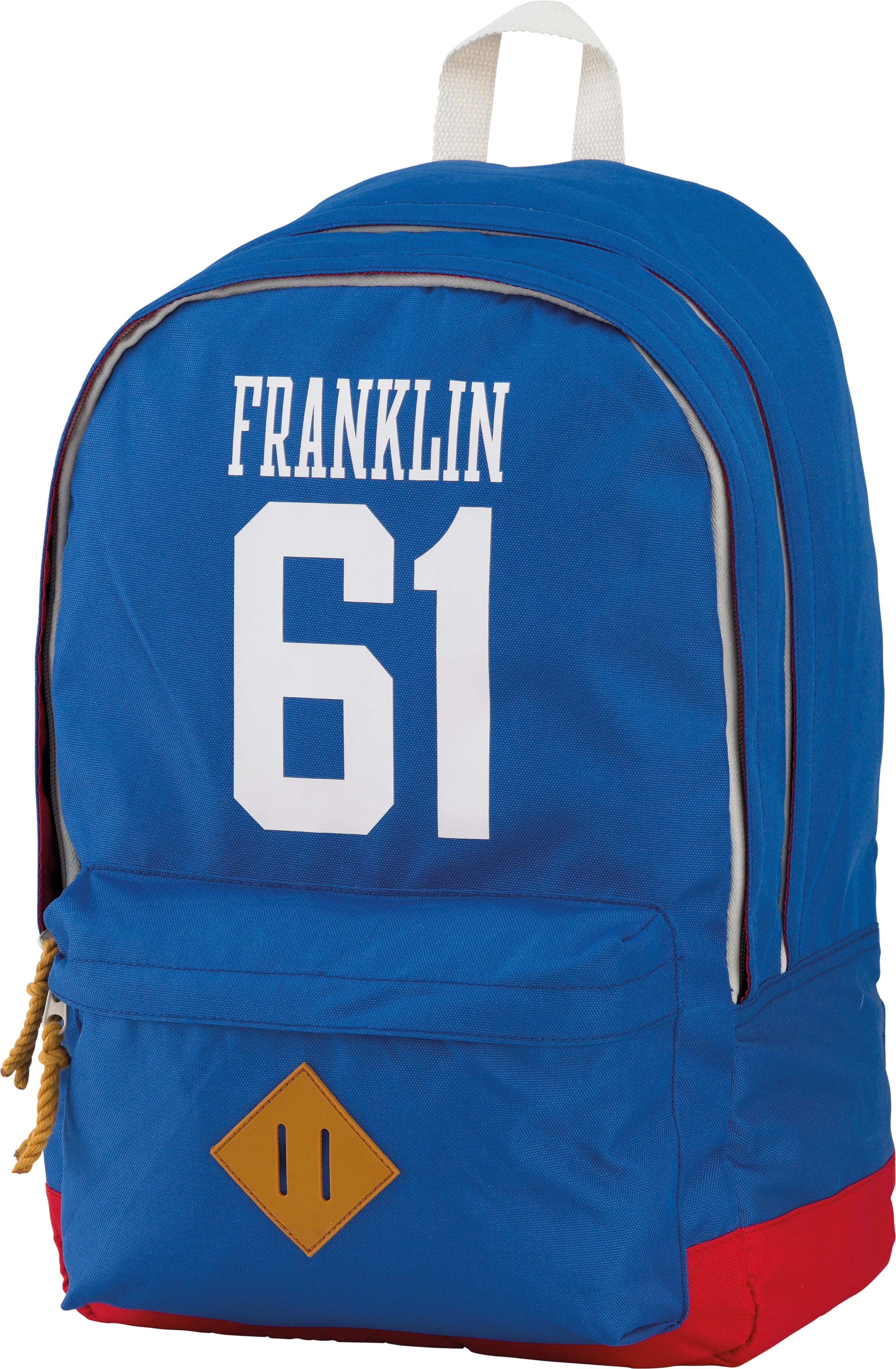 Franklin & Marshall, Rucksack mit gummiertem Bodenschutz, »Boys Backpack hellblau«   Taschen > Rucksäcke > Sonstige Rucksäcke   Blau   Polyester   FRANKLIN & MARSHALL