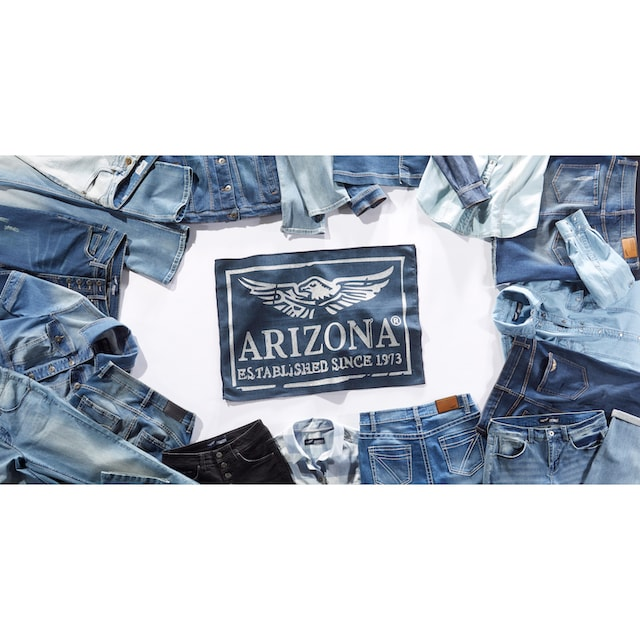 Arizona Bootcut-Jeans »mit Zippertasche«