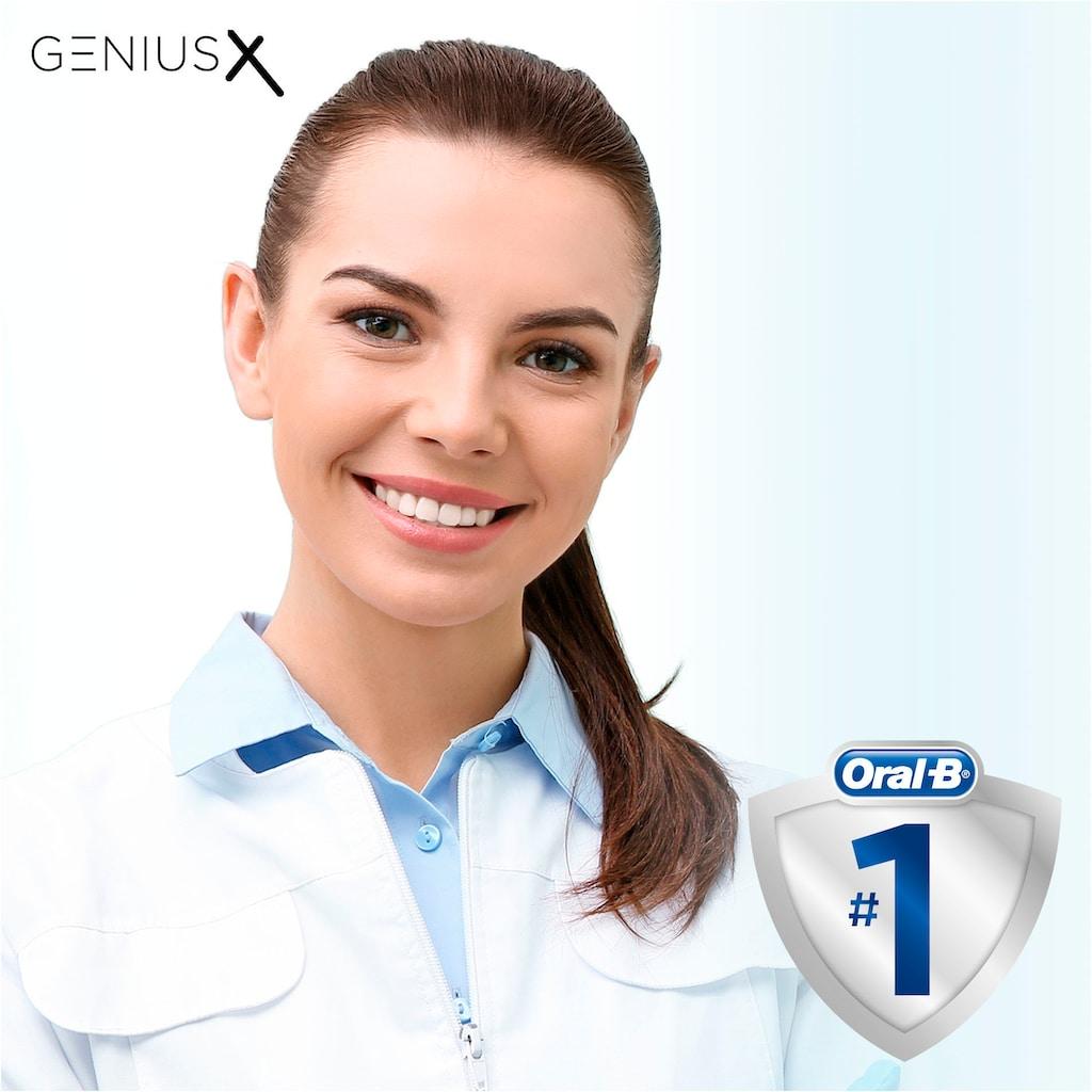 Oral B Elektrische Zahnbürste »Genius X 20000N«, 1 St. Aufsteckbürsten, roségoldfarben