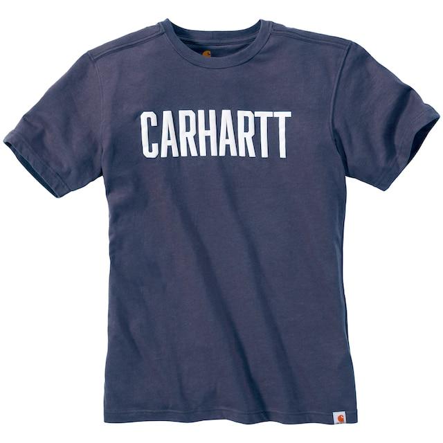 CARHARTT T-Shirt »BLOCK LOGO«, INDIGO HEATHER