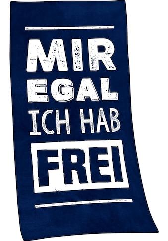Minions Badetuch »Mir egal, ich hab frei«, (1 St.), mit lustigem Spruch kaufen