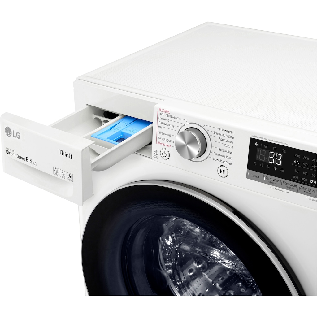LG Waschmaschine »F2V7SLIM8E«, F2V7SLIM8E, 8,5 kg, 1200 U/min
