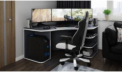 """Homexperts Gamingtisch »Tron«, passend für drei 28"""" Monitore kaufen"""